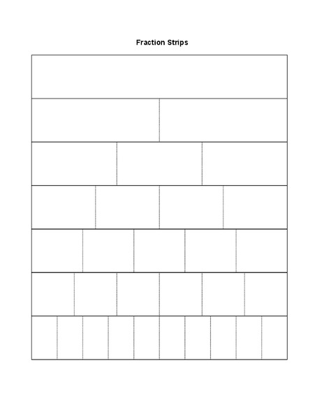 Unlabelled Fraction Strips Template Printables & Template