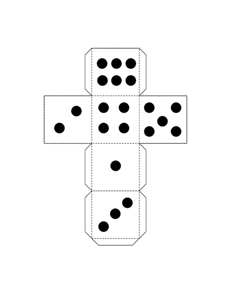 Number Cube with Dots Printables & Template