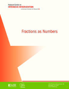 Fractions as Numbers Unit