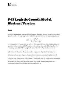 Logistic Growth Model, Abstract Version Lesson Plan