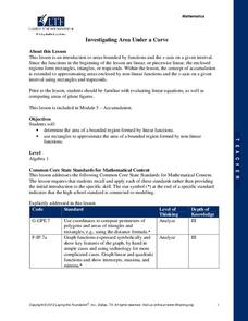 Investigating Area Under a Curve Lesson Plan