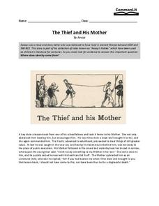 The Thief and His Mother Worksheet