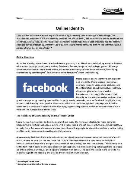 Online dating false identity