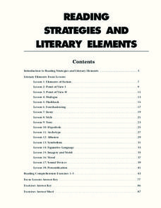 Reading Strategies and Literary Elements 9th - 10th Grade ...