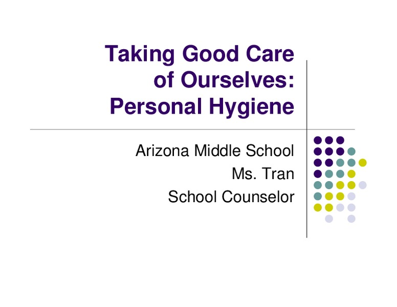 Personal Hygiene High School Lesson Plans & Worksheets