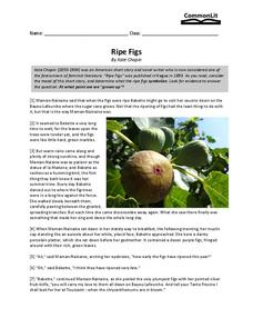 Ripe Figs Worksheet
