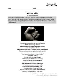 Making a Fist Worksheet