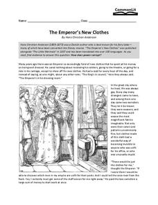 The Emperor's New Clothes Worksheet