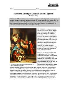 give me liberty or give me death oration