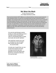 We Wear the Mask Worksheet