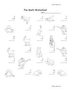 Fun Math 30 Worksheet