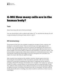 How Many Cells Are in the Human Body? Lesson Plan