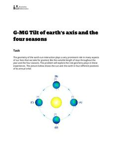 Tilt of Earth's Axis and the Four Seasons Activities & Project