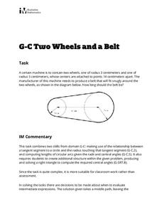 Two Wheels and a Belt Lesson Plan