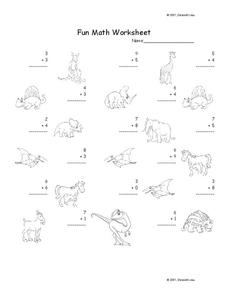 Fun Math Worksheet Worksheet