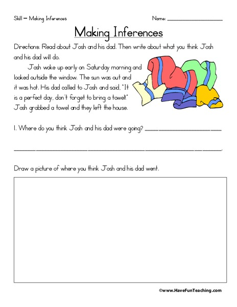Making Inferences (11) Worksheet