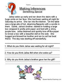 Making Inferences Something Special (13) Worksheet for 2nd ...