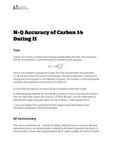 Accuracy of Carbon 14 Dating II Activities & Project