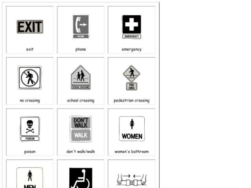 Safety Signs Lesson Plans & Worksheets Reviewed by Teachers