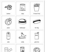 Home & School: Food Printables & Template