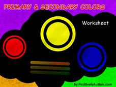 Primary and Secondary Color Worksheets Worksheet