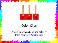 Color Clips Printables & Template