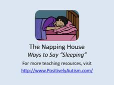 """The Napping House"" Ways to Say Sleeping Presentation"