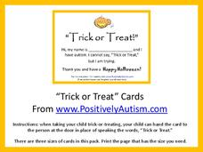 """Trick or Treat"" Cards Printables & Template"