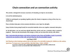 Chain Connection and Un-Connection Activity Printables & Template