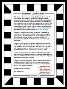 Emotion Card Games Activities & Project