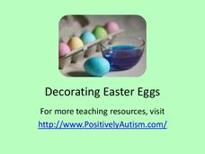 """Decorating Easter Eggs"" Social Skill Story Presentation"