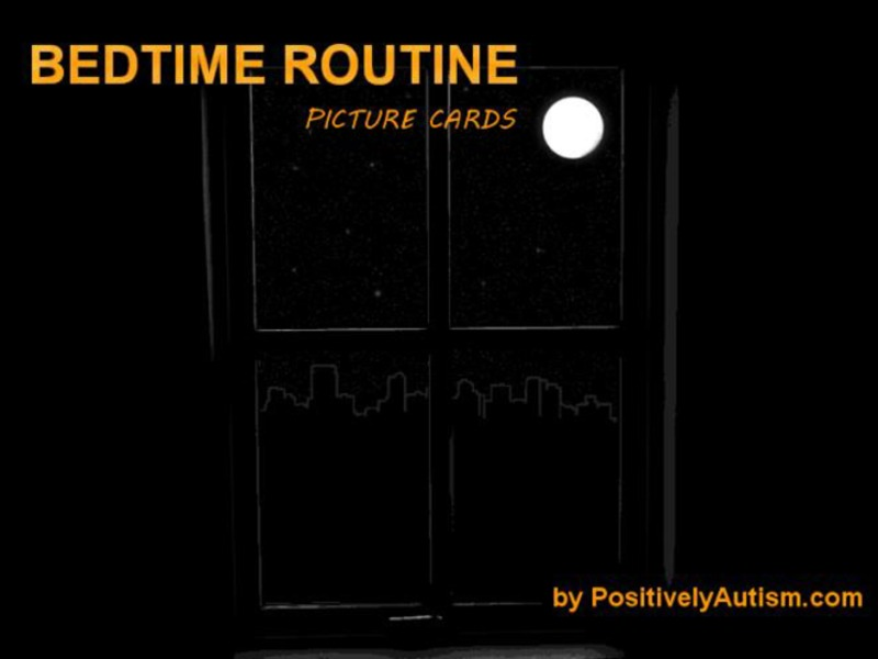 Bedtime Routine Picture Cards Printables & Template