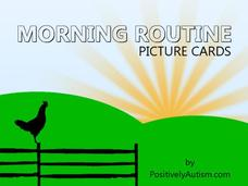 Morning Routine Picture Cards Printables & Template