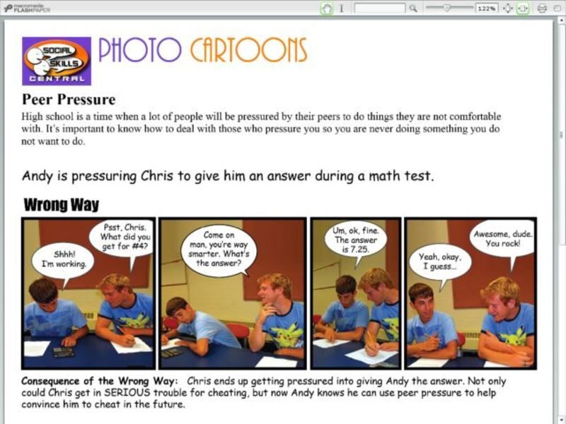 Photo Cartoons: Peer Pressure Handouts & Reference