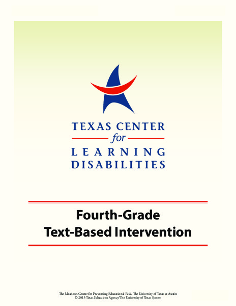 Fourth-Grade Text-Based Intervention Unit