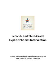 Second and Third Grade Explicit Phonics Intervention Unit