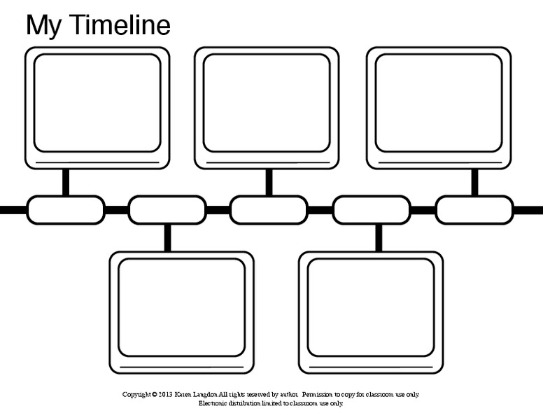 My Timeline Graphic Organizer