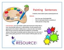Painting Sentences Activities & Project