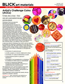 Artist's Challenge Coins Lesson Plan
