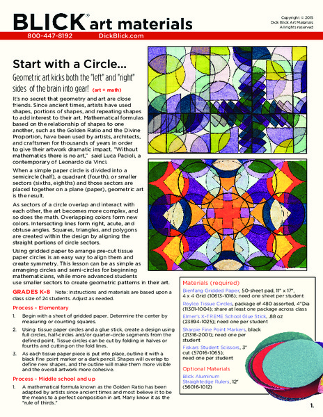 Start with a Circle... Lesson Plan