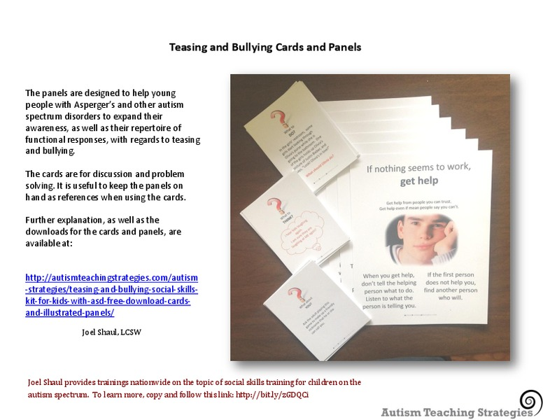 Teasing and Bullying Cards and Panels Printables & Template