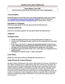 sample syllabus template printables template for 9th higher ed