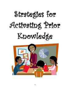 Strategies for Activating Prior Knowledge Activities & Project