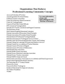 Organizations That Endorse Professional Learning Community Concepts Printables & Template