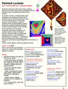 Painted Lockets Lesson Plan