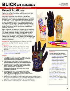 Mehndi Art Gloves Lesson Plan