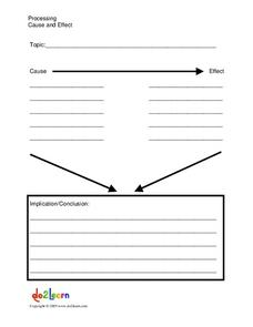 Processing Cause and Effect Graphic Organizer