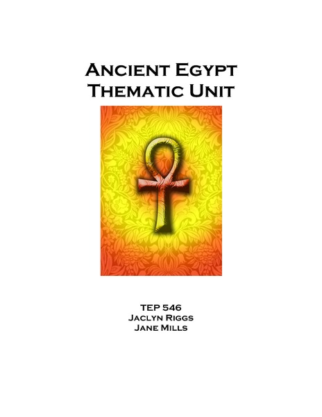 Ancient Egypt Thematic Unit Unit