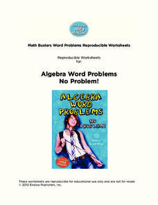 Algebra Word Problems, No Problem! Worksheet