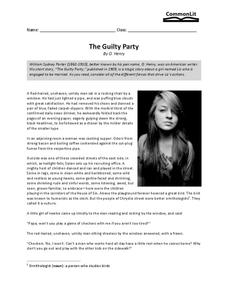 The Guilty Party Worksheet